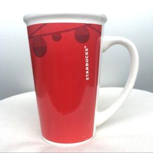Starbucks Red Coffee Tea Cup 2012 Christmas Mug
